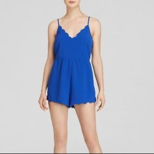 Lush Scallop Blue Romper - Small -